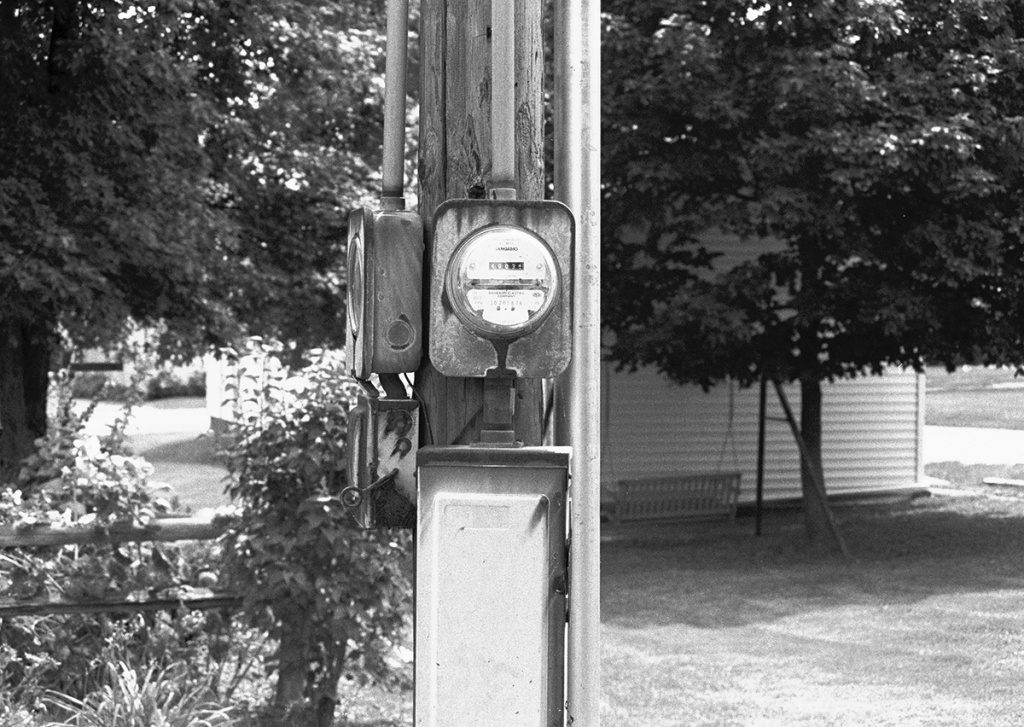 Power meter on a pole