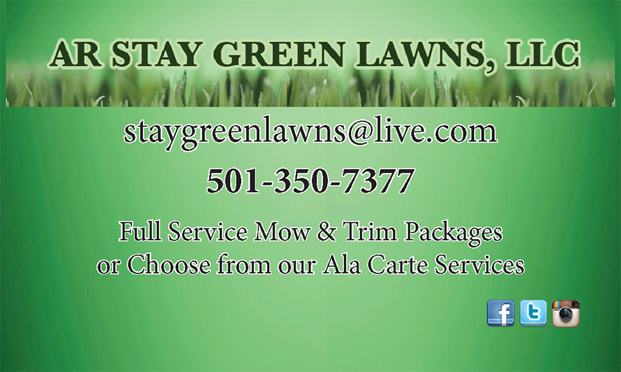 Business Card for AR Stay Green Lawns