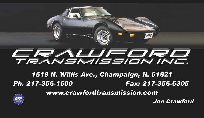 Business card for Crawford Transmission