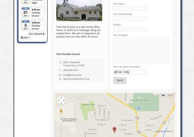 Farmer City Christian Church Contact page