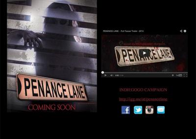 Penance Lane's original Indiegogo campaign site