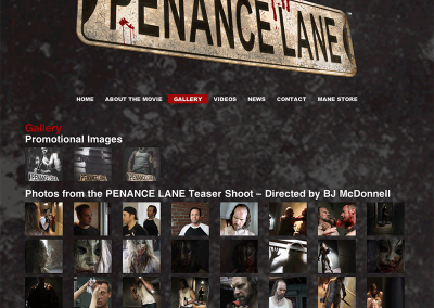Penance Lane Gallery page