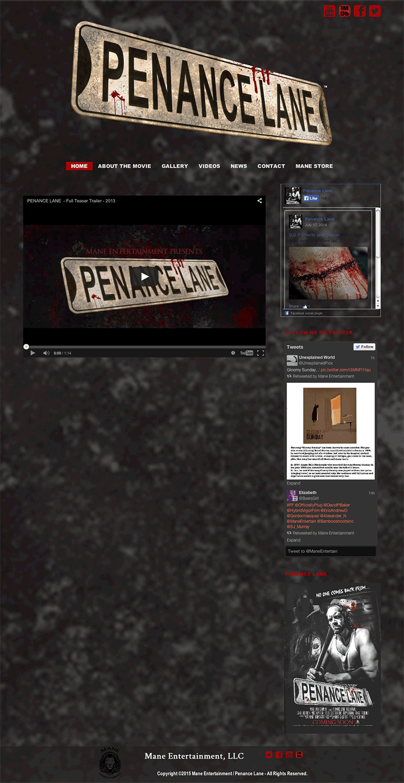 Penance Lane Home page