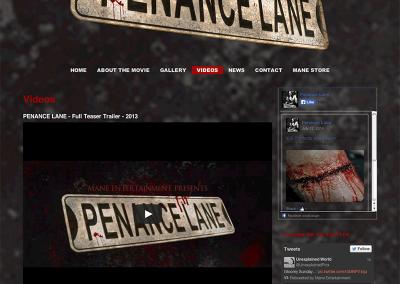 Penance Lane Video page