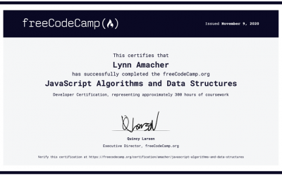 JavaScript Algorithms and Data Structures Certification